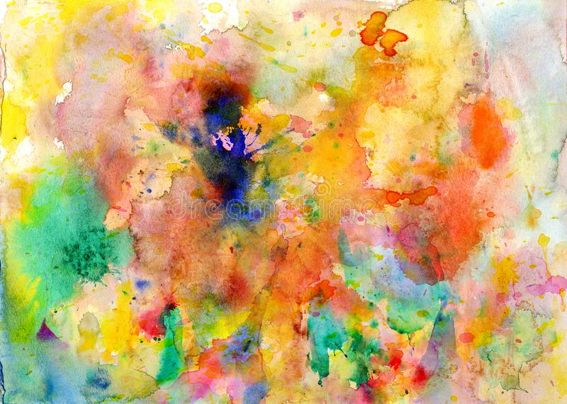 Splatters, splinter, blotches, blots and blobs of paint. On paper royalty free illustration