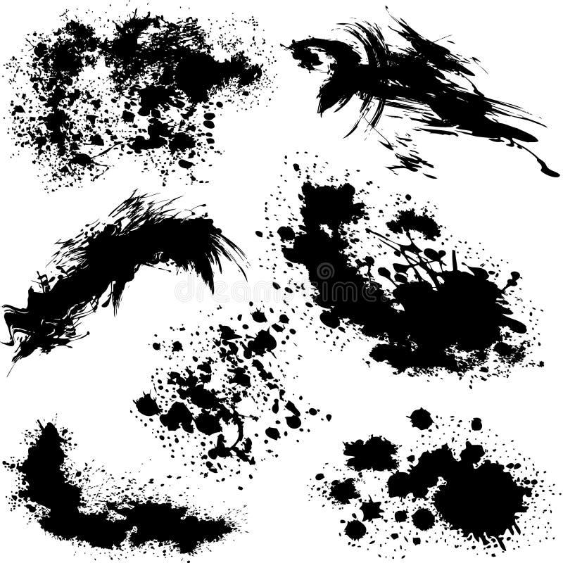 Download Splatters Verschiedenen Vektor Vektor Abbildung - Illustration von dekoration, punkt: 9094787