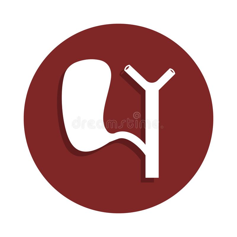 spleen icon in badge style. One of organ collection icon can be used for UI, UX royalty free illustration