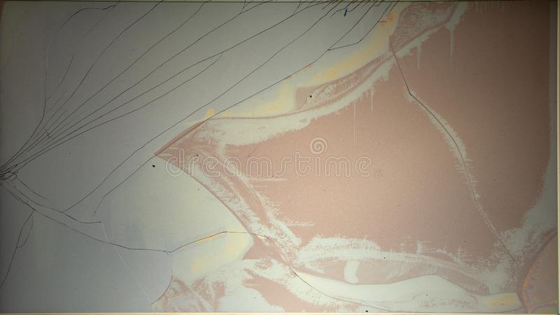 Spleet gebroken LCD van de het schermvertoning textuur als achtergrond royalty-vrije stock foto's