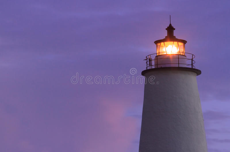 Splendere leggero di Ocracoke all'alba immagine stock