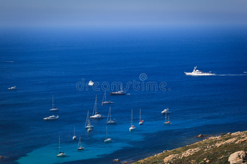 Splendid Corsica Coastal Waters Royalty Free Stock Image