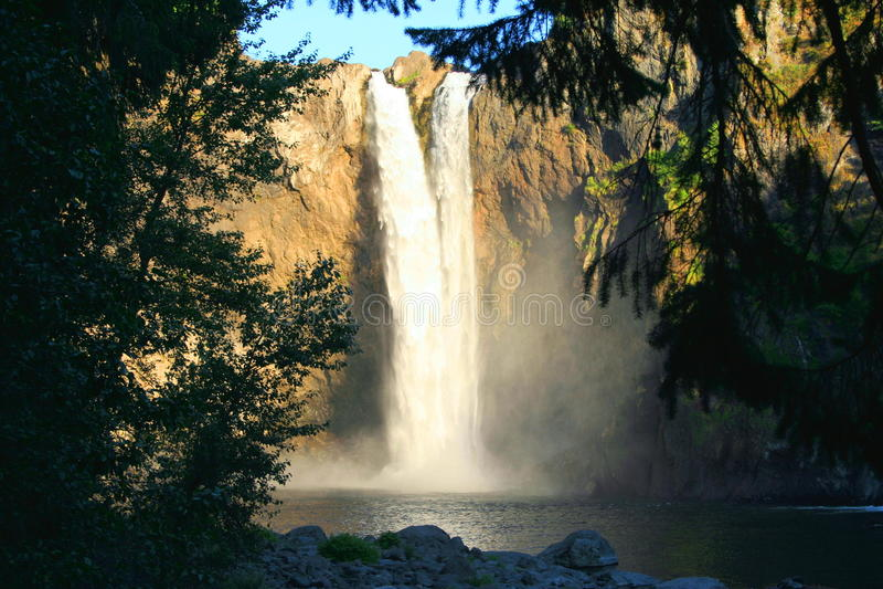 Splendid Snoqualmie Falls stock photography