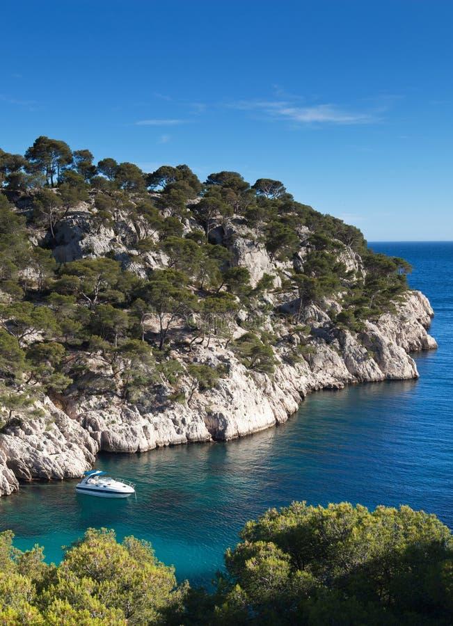 Splendid southern France coast stock images