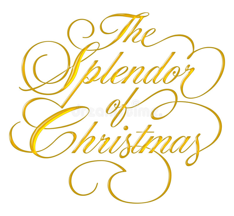 Splendor of Christmas Script royalty free stock photography