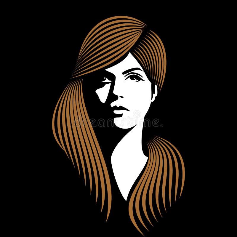Splendor dziewczyna z czarnym tłem ilustracji