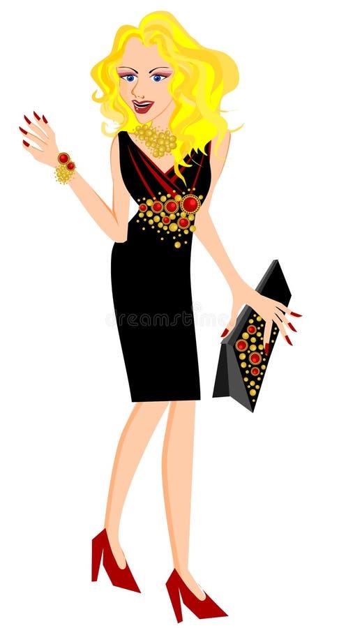 Splendor kobieta ilustracja wektor