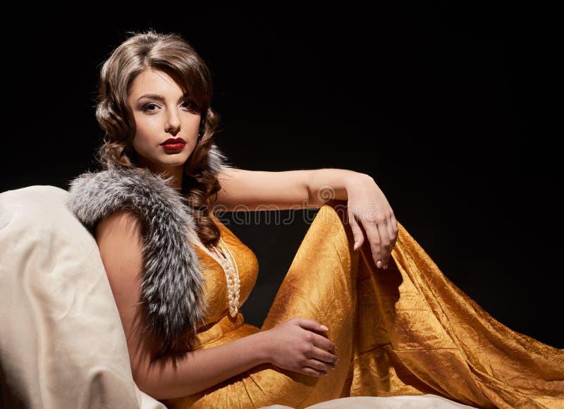 Splendor mody damy portret zdjęcia royalty free