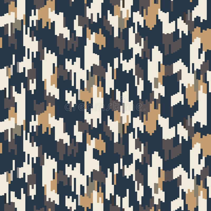 Free Spliced Vector Stripe. Geometric Variegated Background. Seamless Camo Ikat Pattern With Woven Broken Lines. Modern Distorted Pixel Stock Images - 173896584