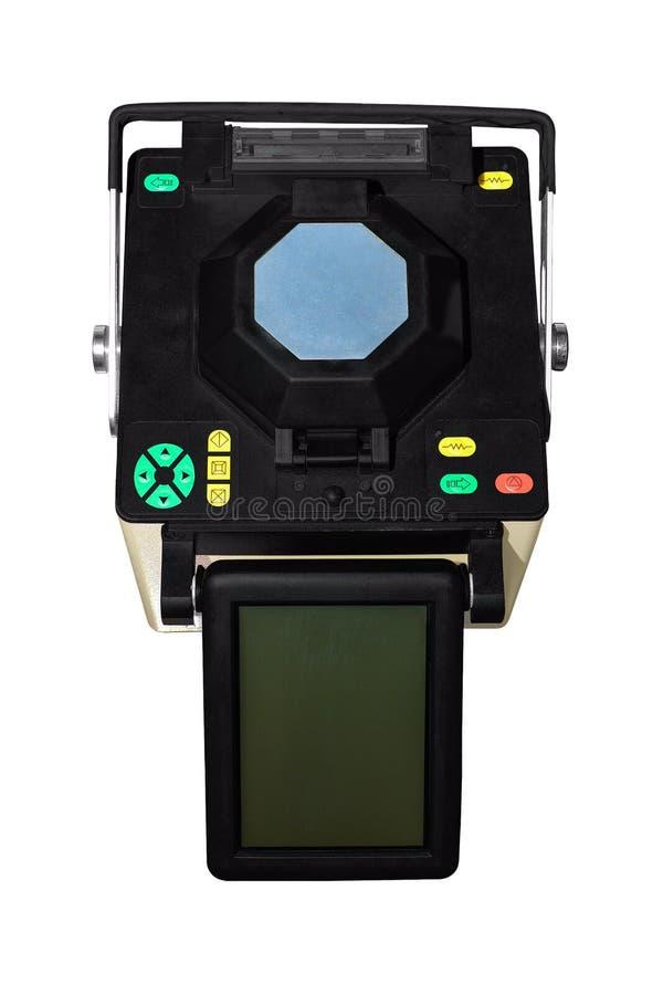 Splicer τήξης Εξοπλισμός για τη συγκόλληση της οπτικής ίνας στοκ φωτογραφία με δικαίωμα ελεύθερης χρήσης