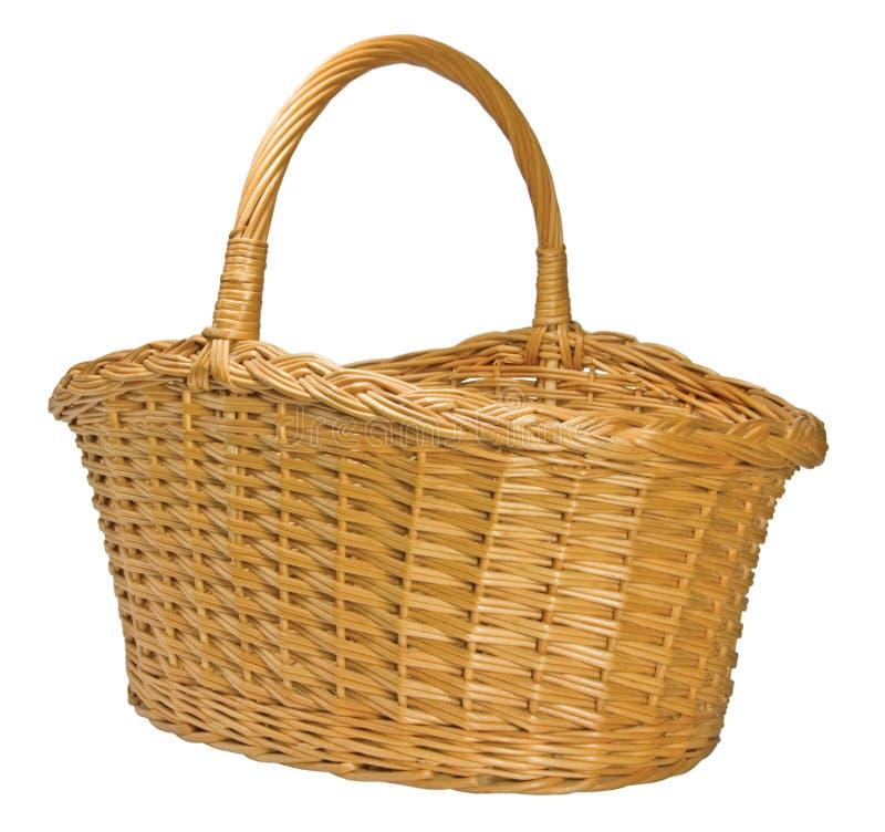 Splint Willow Wicker Basket Isolated stock photos