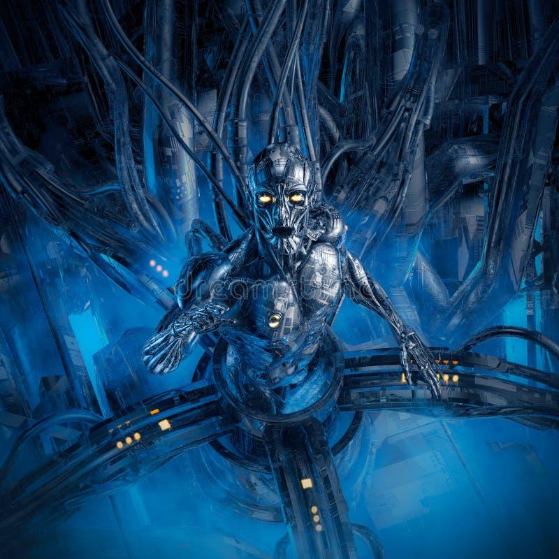Splinter in de machine royalty-vrije illustratie