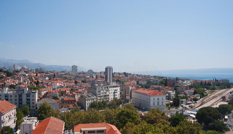 Split city view, Croatia. Split city view, Dalmatia, Croatia royalty free stock photography