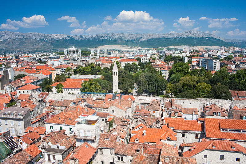 Split city view, Croatia. Split city view, Dalmatia, Croatia stock images