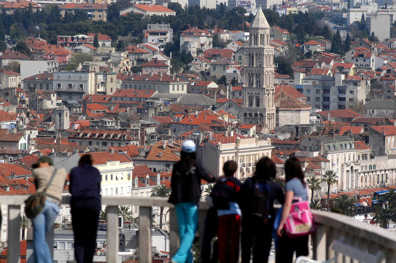 Split,Croatia. Scenery of Split,Croatia (Dalmatia royalty free stock photo