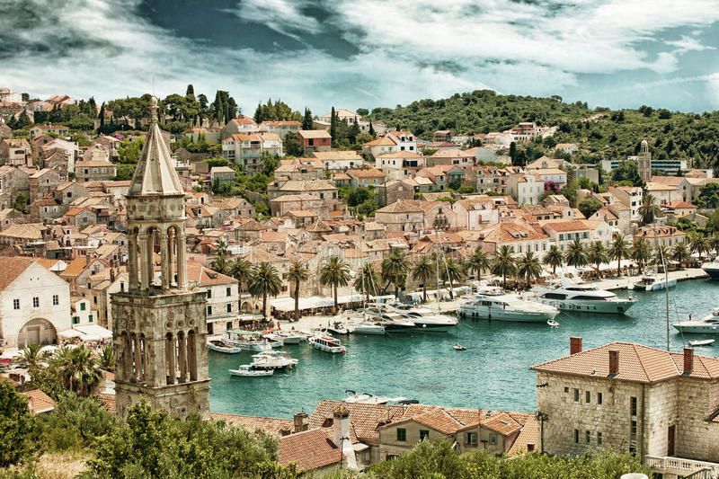 Split in Croatia HDR royalty free stock images