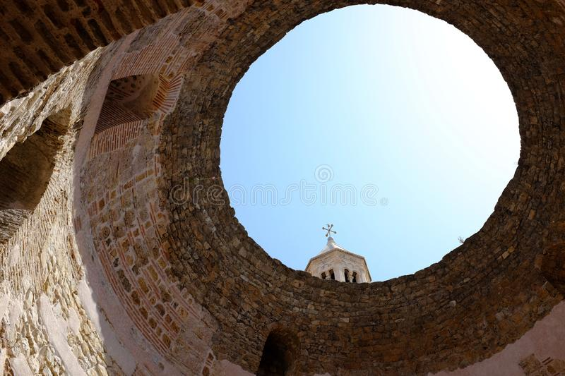 The Rotunde Vestibule in the Diocletian Palace in Split, Croatia stock photography
