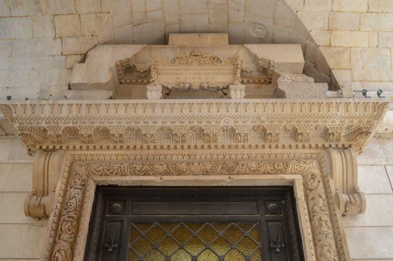 Saint Roch Roka Church near Diocletian`s palace in Split on June 15, 2019. SPLIT, CROATIA - JUNE 15: Saint Roch Roka Church near Diocletian`s palace in Split on stock photo
