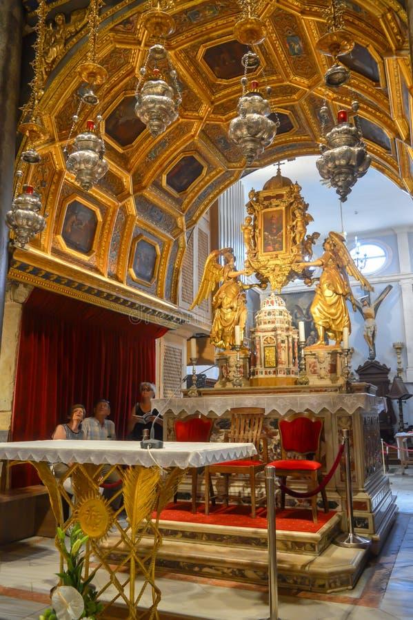 Saint Roch Roka Church near Diocletian`s palace in Split on June 15, 2019. SPLIT, CROATIA - JUNE 15: Saint Roch Roka Church near Diocletian`s palace in Split on stock image