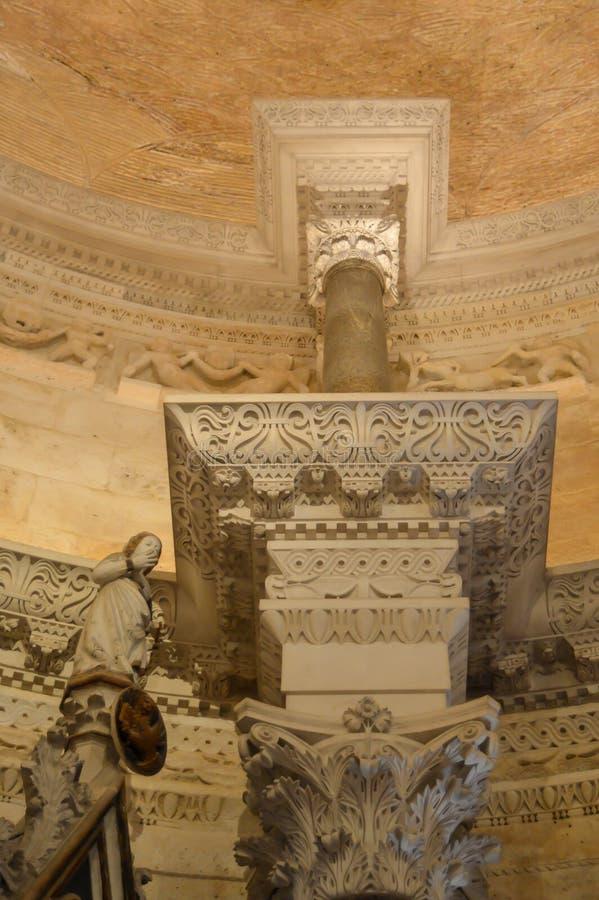 Saint Roch Roka Church near Diocletian`s palace in Split on June 15, 2019. SPLIT, CROATIA - JUNE 15: Saint Roch Roka Church near Diocletian`s palace in Split on royalty free stock images