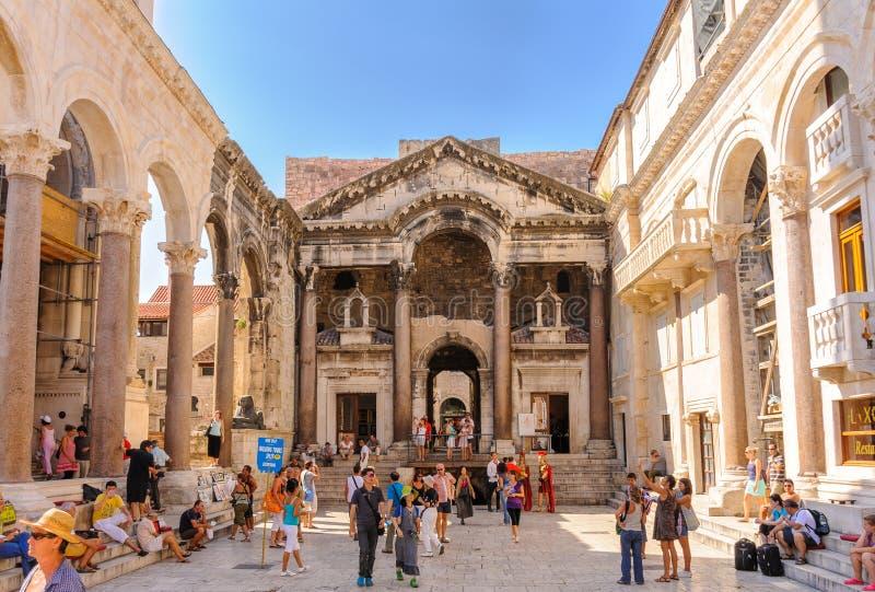 Split, Croatia Peristyle royalty free stock photography