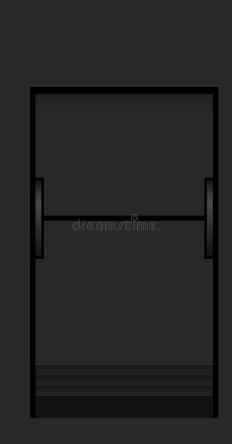 Split flap mechanical board detail stock illustration