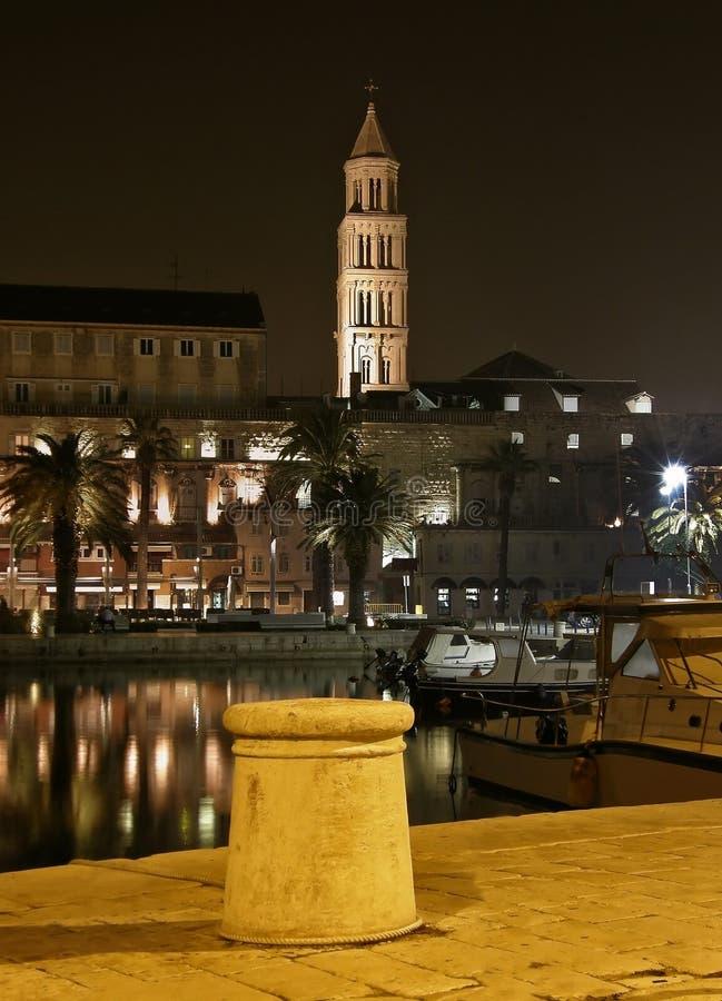 Download Split - Harbor  In The Night 2 Stock Image - Image: 22894803