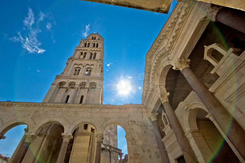 Split historic center cathedral view. Dalmatia, Croatia royalty free stock photo