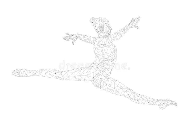 Split-Jump-Gymnastin stockfotografie