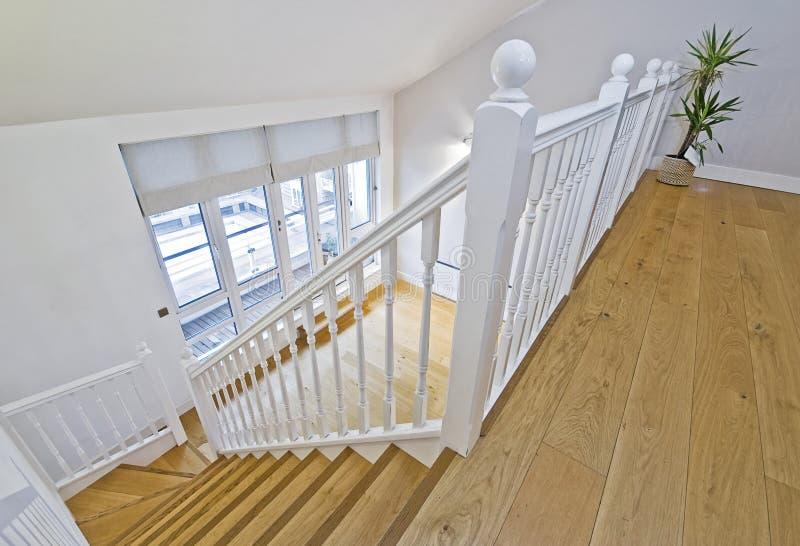 Split level living room royalty free stock image