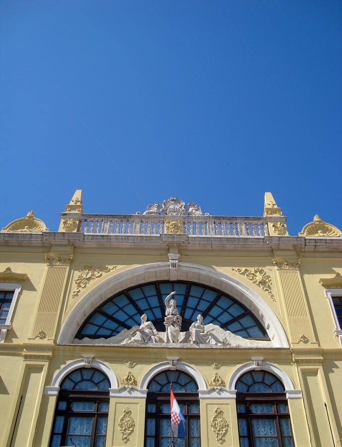 Split National theatre royalty free stock image