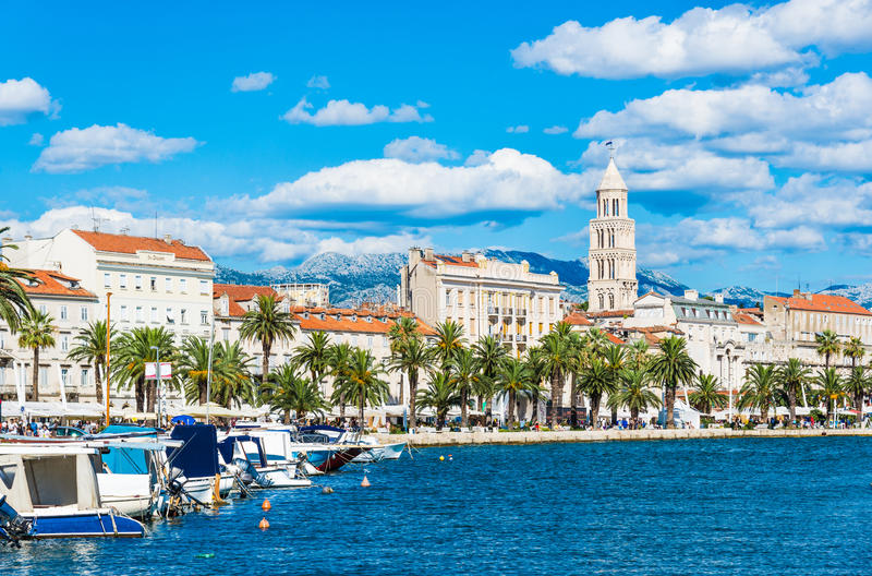 Split panoramic view, Croatia. Split panoramic view of town, Dalmatia, Croatia stock image