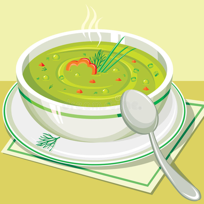 Split pea soup stock illustration