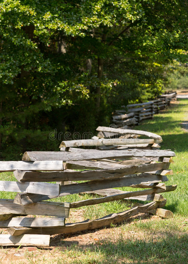 Download Split Rail Fence By Edge Of Forest Stock Image - Image: 26215047