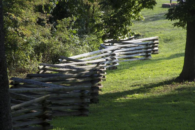 Split rail fence line royalty free stock photography