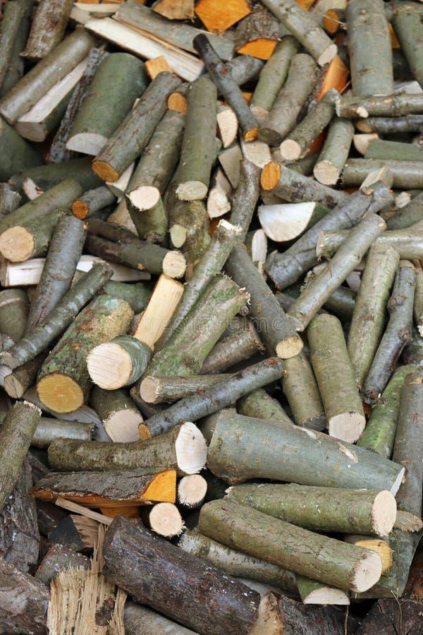 Firewood log stack royalty free stock photo