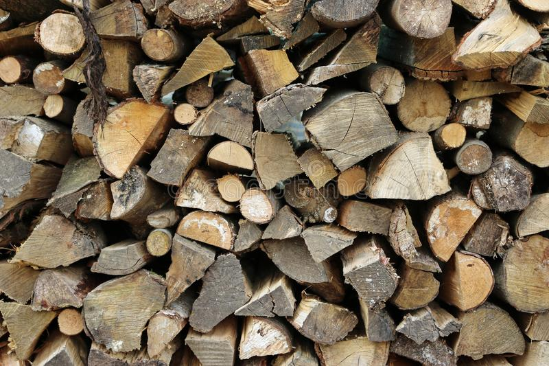 Firewood log stack royalty free stock photography