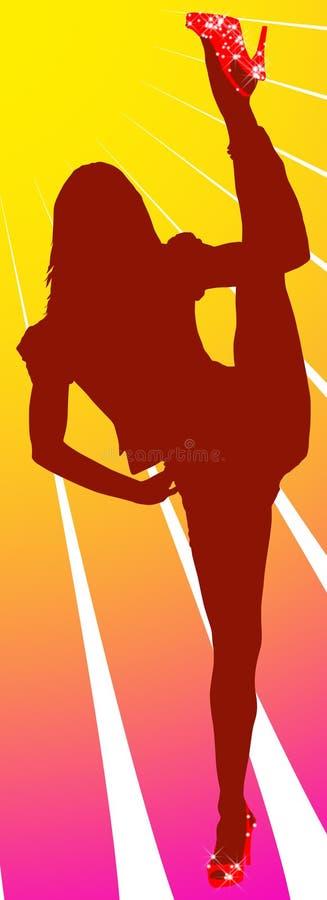 Splits da posição da menina ilustração do vetor