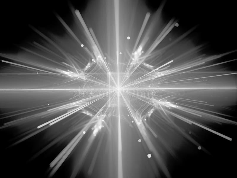 Splitsing in grote hadron collider zwart-witte textuur vector illustratie