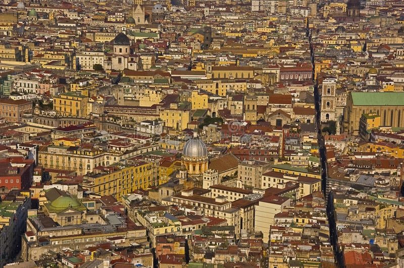 The splitted city, naples, italy. Downtown of the city of naples, italy royalty free stock photography