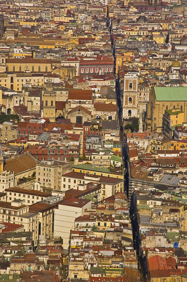 The splitted city, naples, italy. The old city of Naples, Italy royalty free stock photography
