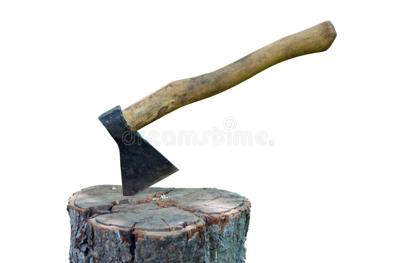 Download Splitting Axe On A Pack Stock Photography - Image: 9321362