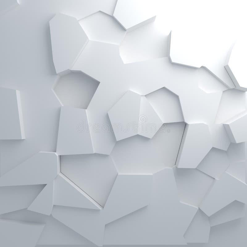 Splittra abstrakt bakgrund för modellen stock illustrationer