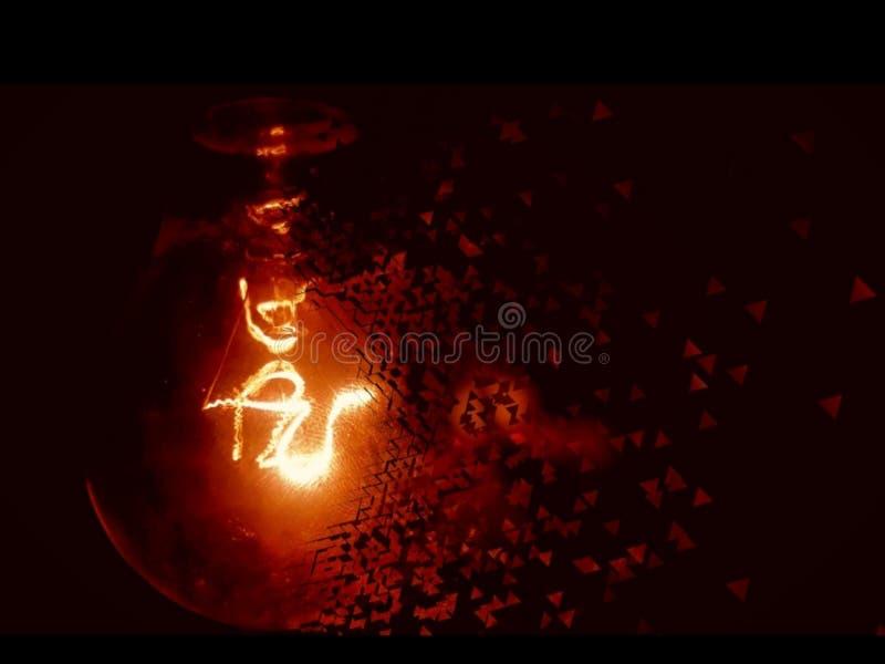 Splittra ljus på natten royaltyfri bild