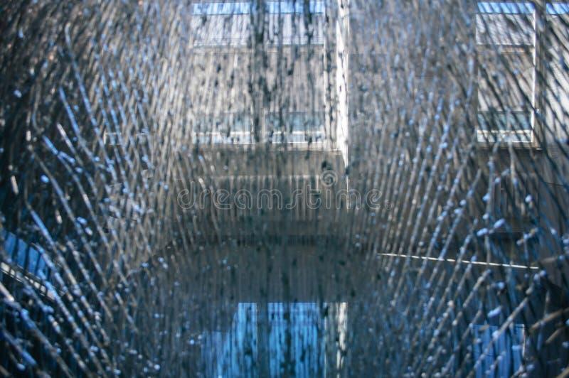 Splittrat glass brutet exponeringsglas arkivbilder