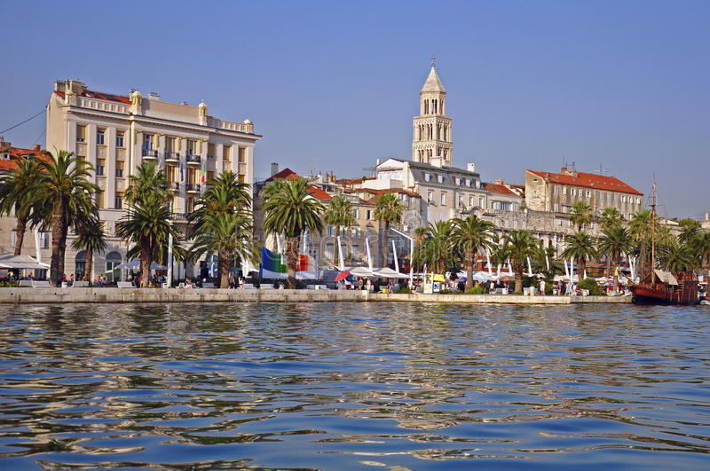 Splittring Dalmatia arkivbild