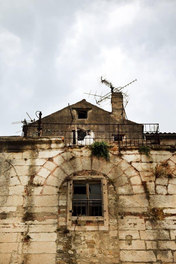 Splittring Kroatien - gammal stad royaltyfri foto