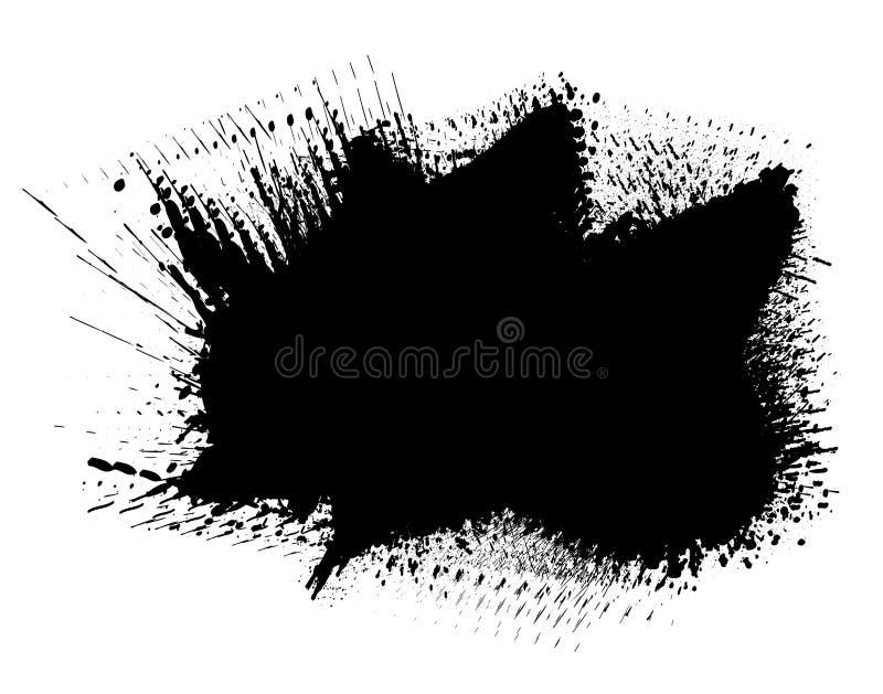 Splot dell'inchiostro illustrazione vettoriale