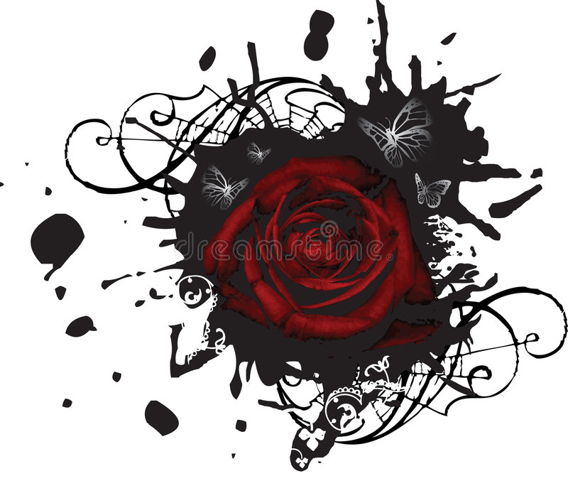 Download Splotched Grunge Large Rose Royalty Free Stock Photos - Image: 5011858