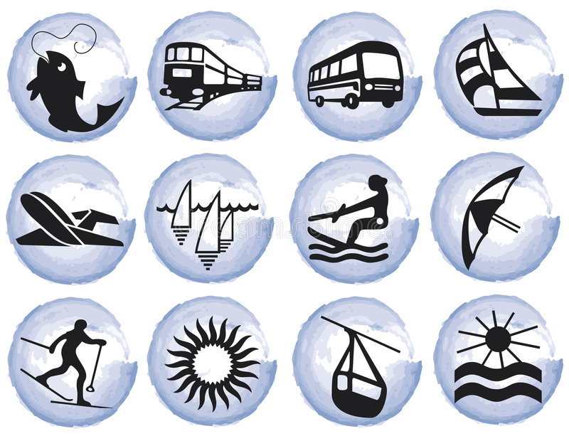 Download Splotches With Tourism Symbols Royalty Free Stock Photo - Image: 9142015
